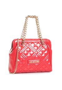 Czerwona torebka klasyczna Love Moschino klasyczna