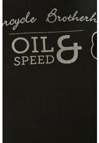 Czarna bluza nierozpinana PRODUKT by Jack & Jones z kapturem, z aplikacjami, casualowa
