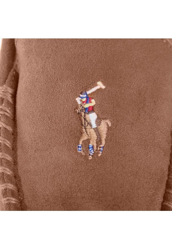 Brązowe kapcie Polo Ralph Lauren do domu