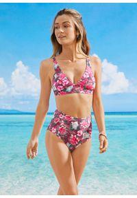 Biustonosz bikini bustier bonprix bordowy. Kolor: czerwony