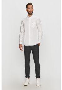 Biała koszula Lacoste button down, elegancka, długa