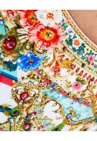 Camilla - CAMILLA - Jednoczęściowy kostium Party In The Palace. Kolor: niebieski. Materiał: materiał. Wzór: nadruk