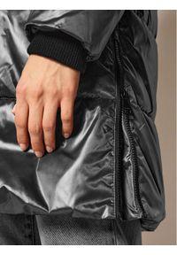 Srebrna kurtka puchowa DKNY