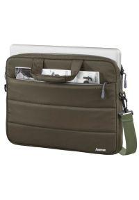 Oliwkowa torba na laptopa hama biznesowa, w kolorowe wzory