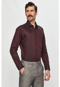 Selected - Koszula. Typ kołnierza: kołnierzyk klasyczny. Kolor: fioletowy. Styl: klasyczny