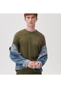 Sinsay - Koszulka basic - Zielony. Kolor: zielony