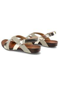 Złote sandały Lemar