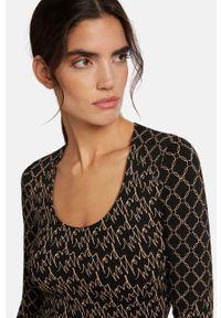 Czarny sweter Wolford z długim rękawem, długi