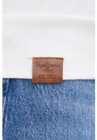 Pepe Jeans - Bluza Priscila. Okazja: na co dzień. Kolor: biały. Długość rękawa: raglanowy rękaw. Styl: casual