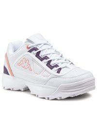 Kappa - Sneakersy KAPPA - Rave Mf 242681MF White/Rose 1021. Okazja: na co dzień. Kolor: biały. Materiał: skóra ekologiczna, materiał. Szerokość cholewki: normalna. Styl: casual