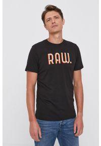 G-Star RAW - G-Star Raw - T-shirt bawełniany. Kolor: czarny. Materiał: bawełna. Wzór: nadruk