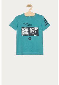 Morski t-shirt Name it casualowy, na co dzień, z nadrukiem