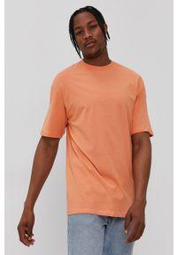 Jack & Jones - T-shirt/polo 12185628. Okazja: na co dzień. Typ kołnierza: polo. Kolor: pomarańczowy. Materiał: dzianina. Wzór: gładki. Styl: casual