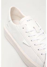 Białe sneakersy D.A.T.E. z cholewką, na sznurówki