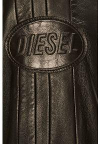Czarna kurtka Diesel na co dzień, casualowa, bez kaptura