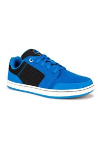 OXELO - Buty dziecięce skate niskie Oxelo CRUSH 500. Kolor: niebieski. Materiał: skóra, kauczuk. Szerokość cholewki: normalna. Sport: skateboard