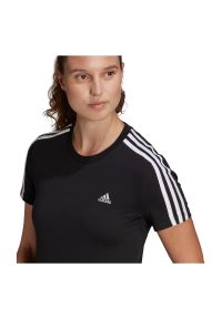 Adidas - Koszulka damska adidas Loungewear Essentials Slim 3S GL0784. Materiał: bawełna, dzianina, materiał. Długość rękawa: krótki rękaw. Długość: krótkie. Sport: tenis