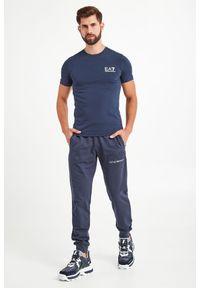 T-shirt EA7 Emporio Armani elegancki, w kolorowe wzory