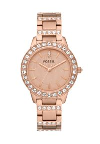 Fossil - Zegarek ES3020. Kolor: złoty. Materiał: materiał