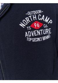 Niebieska bluza TOP SECRET na zimę, z długim rękawem