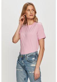 Różowa bluzka Pieces casualowa, na co dzień #5