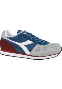 Niebieskie sneakersy Diadora z cholewką