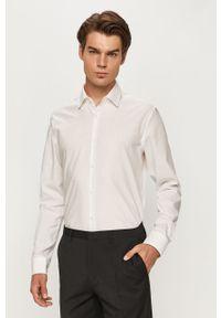 Biała koszula Hugo długa, z długim rękawem, elegancka