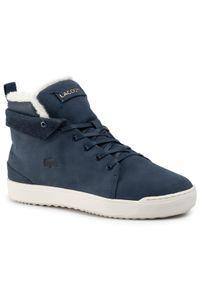 Niebieskie buty sportowe Lacoste