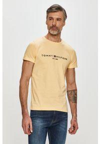 Żółty t-shirt TOMMY HILFIGER casualowy, na co dzień, z aplikacjami #5