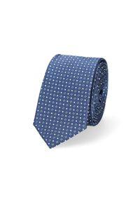 Lancerto - Krawat Granatowy Mikrowzór. Kolor: niebieski. Materiał: tkanina, mikrofibra. Styl: klasyczny
