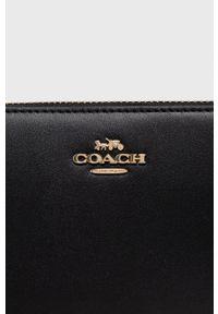 Coach - Portfel skórzany. Kolor: czarny. Materiał: skóra. Wzór: gładki
