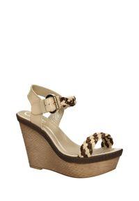 Beżowe sandały Laura Galiano na co dzień, klasyczne, na lato