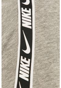 Szary t-shirt Nike Sportswear casualowy, na co dzień #5