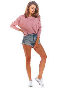 Infinite You - Różowa Bluzka z Długim Reglanowym Rękawem. Kolor: różowy. Materiał: bawełna, lycra. Długość: długie