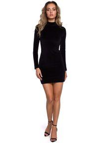 Czarna sukienka MOE mini, ze stójką