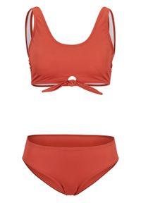 Czerwony strój kąpielowy dwuczęściowy bonprix