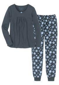 Piżama bonprix nocny niebieski - niebieski z nadrukiem