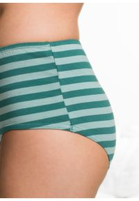 """Figi """"maxi"""" (4 pary) bonprix niebiesko-zielono-jasnoróżowo-szary w paski. Kolor: niebieski. Wzór: paski"""