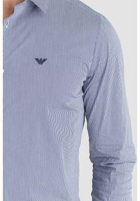 Niebieska koszula Emporio Armani casualowa, na lato, na co dzień