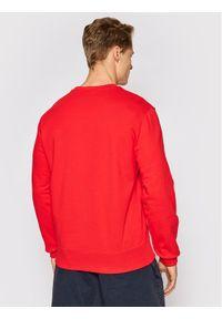 Champion Bluza Satin Script Logo Terry 214188 Czerwony Comfort Fit. Kolor: czerwony