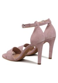 Różowe sandały eleganckie