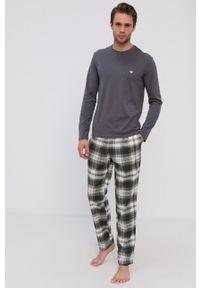 Emporio Armani Underwear - Piżama. Kolor: szary. Długość: długie