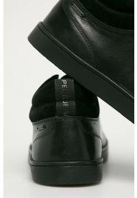 Czarne sneakersy Pepe Jeans z okrągłym noskiem, na sznurówki, z cholewką