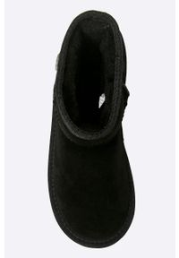 Czarne buty zimowe EMU Australia z cholewką, z okrągłym noskiem