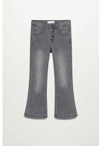 Szare jeansy Mango Kids gładkie
