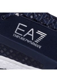 Niebieskie półbuty EA7 Emporio Armani z cholewką, klasyczne