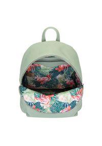 Wittchen - Damski plecak miejski z kolorową podszewką. Materiał: skóra ekologiczna. Wzór: kolorowy. Styl: klasyczny, wakacyjny