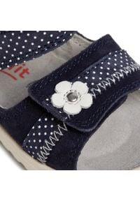 Superfit - Sandały SUPERFIT - 6-09019-80 Blau. Okazja: na co dzień. Kolor: niebieski. Materiał: skóra, zamsz. Wzór: aplikacja. Styl: casual