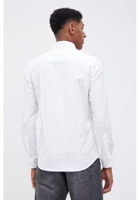 Premium by Jack&Jones - Koszula. Typ kołnierza: button down. Kolor: biały. Materiał: bawełna, tkanina. Długość rękawa: długi rękaw. Długość: długie. Wzór: gładki
