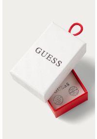 Srebrne kolczyki Guess Jeans z kryształem, ze stali, z aplikacjami